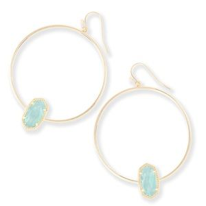 NWT Kendra Scott Elora Gold Hoop Earrings